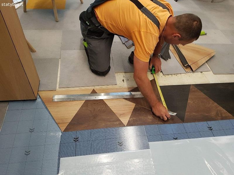 Kiliminės ,parketo, PVC grindų dangos ir jų įrengimo darbai