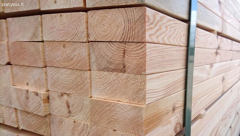 Kokybiška lietuviška statybine mediena - džiovinta, kalibruo