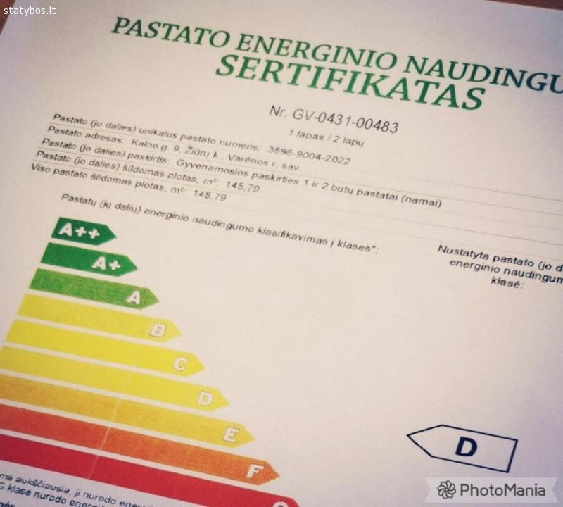 Pastatų energinio naudingumo sertifikatas