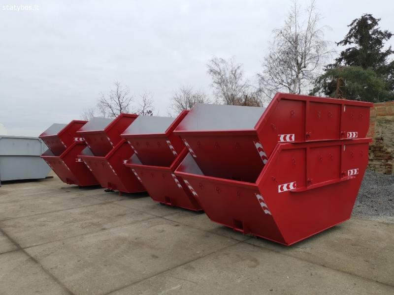 Statybinių konteinerių nuoma, šiukšlių išvežimas